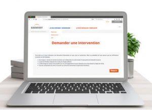 Demande d'intervention de réparation de volet en ligne